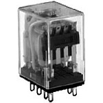95 Series Plug In (Solder) Terminal Basic Relay - 4PDT - 24VDC Coil